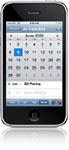 iPhone with calendar