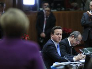 David Cameron at Euro Summit