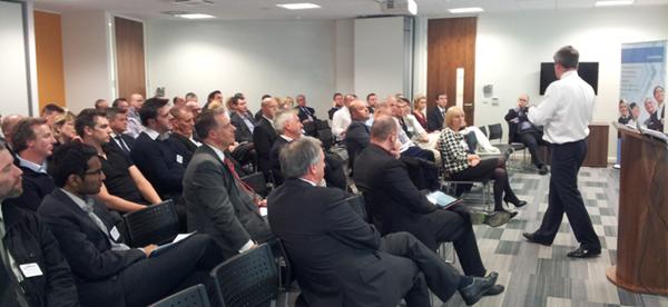 David Fraser delivering a talk on leadership, Nov 2012
