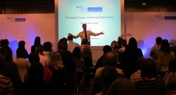 David Fraser addressing a conference audience