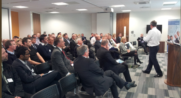 David Fraser addressing a leadership audience