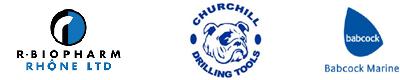 R Biopharm and Churchill and Babcock logos