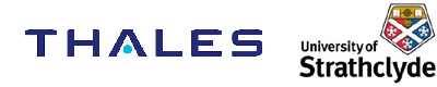 Thales and Strathclyde University logos